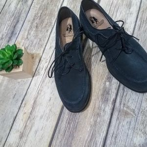 Hush Puppies Sz 7 NWOT Navy Suede Lace-Up Oxfords